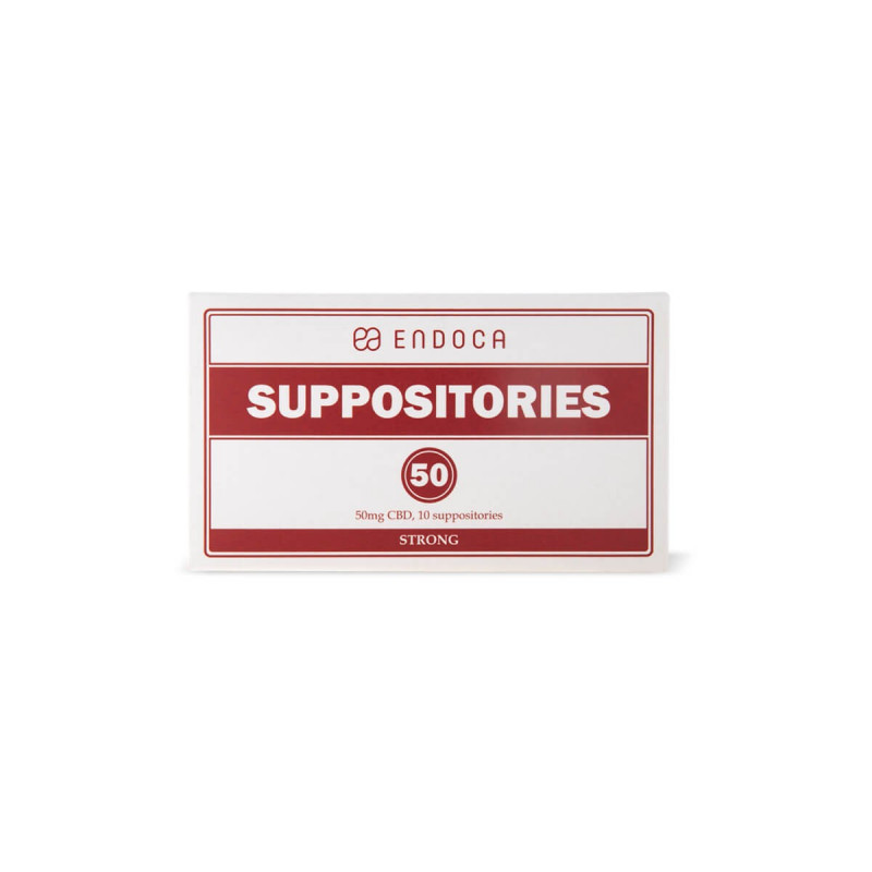 Endoca CBD suppositories 500 mg, 10 suppositories Root